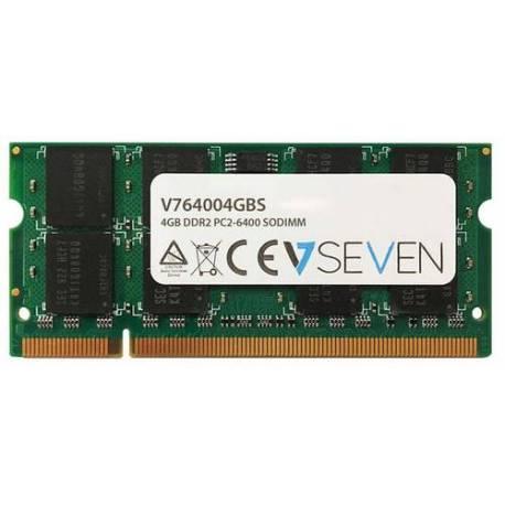 V7 MEMORIA RAM 4GB DDR2 800MHZ CL6 SO DIMM PC2-6400