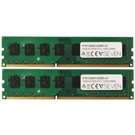 V7 MEMORIA RAM 2X8GB KIT DDR3 1600MHZ CL11 DIMM PC3L-12800 1.35V