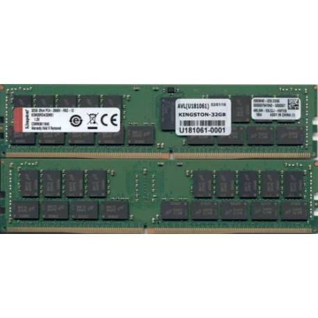Kingston MEMORIA RAM 32GB DDR4-2666MHZ ECC REG CL19 DIMM 2RX4 MICRON E IDT