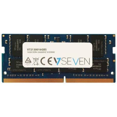 V7 MEMORIA RAM 16GB DDR4 2666MHZ CL19 NO ECC SO DIMM PC4-21300 1.2V 288PIN