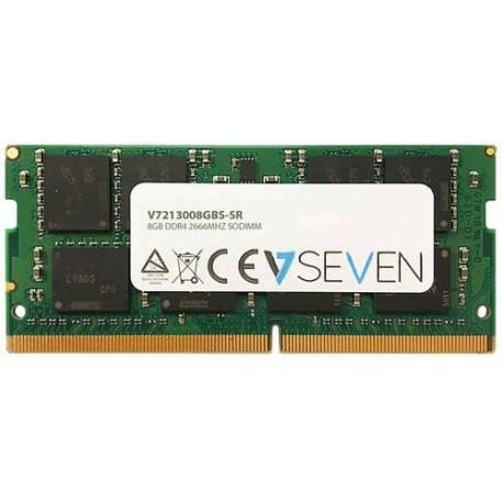 V7 MEMORIA RAM 8GB DDR4 2666MHZ CL19 NO ECC SO DIMM PC4-21300 1.2V 288PIN