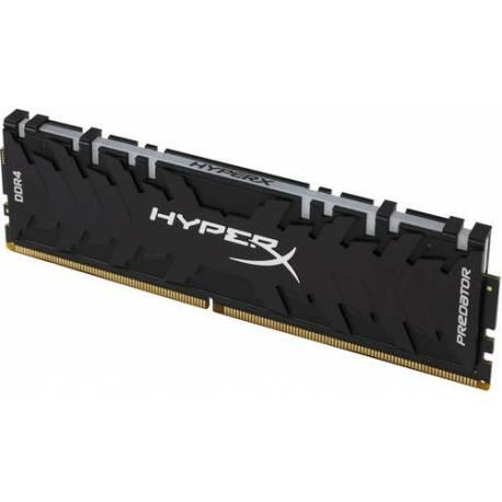 Kingston MEMORIA RAM 64GB 3000MHZ DDR4 CL15 DIMM KIT DE 4 XMP HYPERX PREDATOR RGB