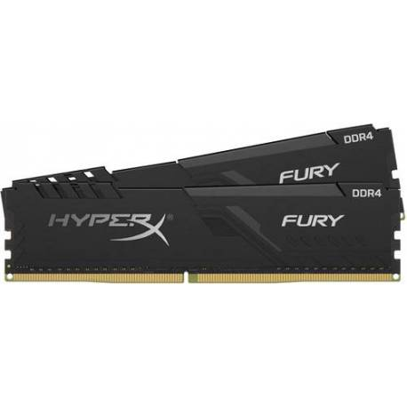 Kingston MEMORIA RAM 8GB DDR4 2400MHZ CL15 DIMM KIT DE 2 HYPERX FURY NEGRO