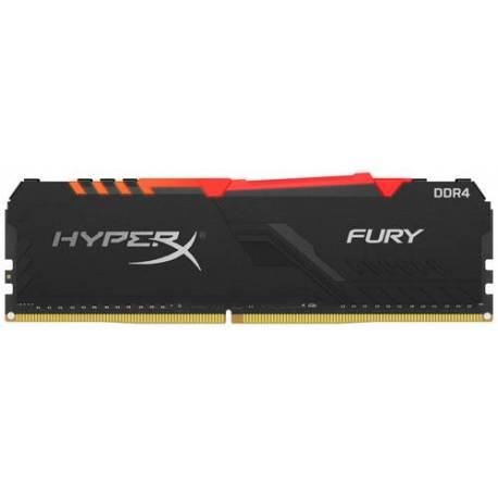Kingston MEMORIA RAM 8GB DDR4 2666MHZ CL16 DIMM 1RX8 HYPERX FURY RGB