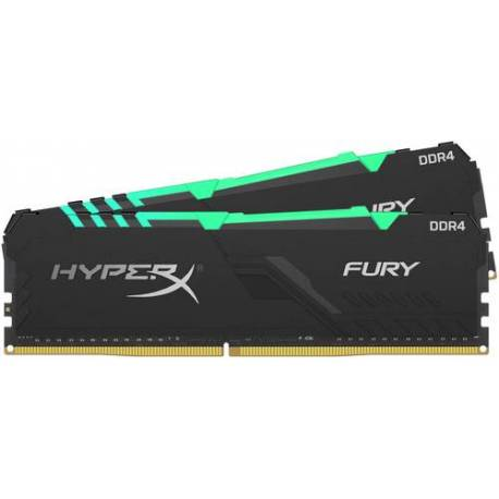 Kingston MEMORIA RAM 16GB DDR4 2666MHZ CL16 DIMM KIT DE 2 1RX8 HYPERX FURY RGB