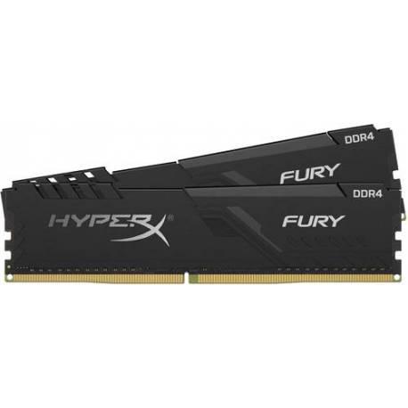 Kingston MEMORIA RAM 16GB DDR4 2666MHZ CL16 DIMM KIT DE 2 1RX8 HYPERX FURY NEGRO