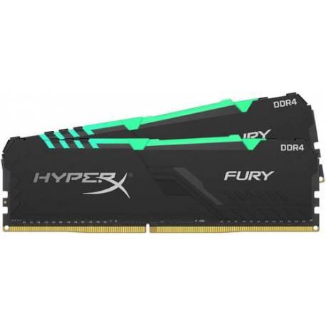 Kingston MEMORIA RAM 16GB DDR4 3200MHZ CL16 DIMM KIT DE 2 1RX8 HYPERX FURY RGB
