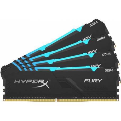 Kingston MEMORIA RAM 32GB DDR4 3200MHZ CL16 DIMM KIT DE 4 1RX8 HYPERX FURY RGB