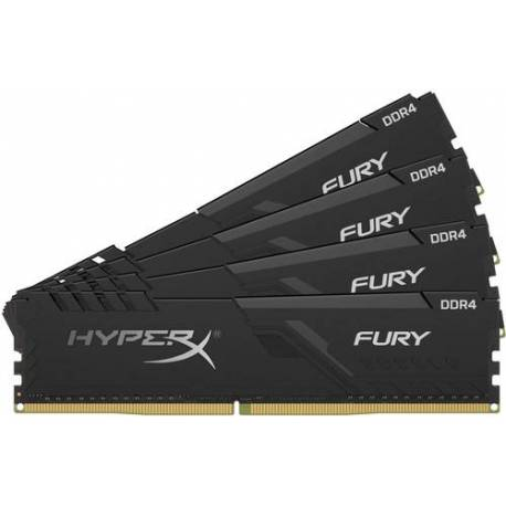 Kingston MEMORIA RAM 32GB DDR4 3200MHZ CL15 DIMM KIT DE 4 1RX8 HYPERX FURY NEGRO