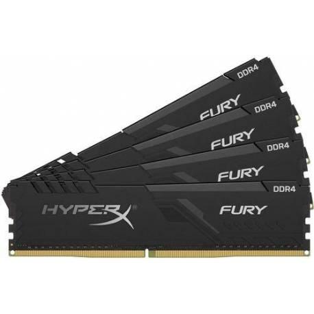 Kingston MEMORIA RAM 128GB DDR4 3200MHZ CL16 DIMM KIT DE 4 HYPERX FURY NEGRO
