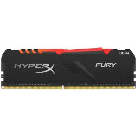 Kingston MEMORIA RAM 8GB DDR4 3600MHZ CL17 DIMM 1RX8 HYPERX FURY RGB