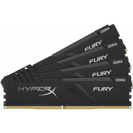 Kingston MEMORIA RAM 32GB DDR4 3600MHZ CL17 DIMM KIT DE 4 1RX8 HYPERX FURY NEGRO