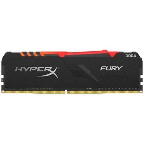 Kingston MEMORIA RAM 8GB DDR4 3733MHZ CL19 DIMM 1RX8 HYPERX FURY RGB
