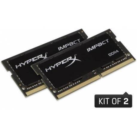 Kingston MEMORIA RAM 64GB DDR4 2666MHZ CL16 SODIMM KIT DE 2 HYPERX IMPACT