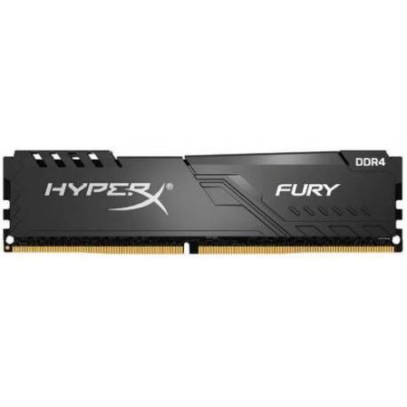 Kingston MEMORIA RAM 64GB 2666MHZ DDR4 CL16 DIMM KIT DE 4 HYPERX FURY NEGRO