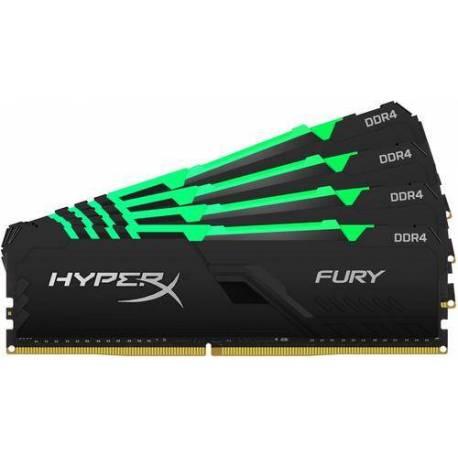 Kingston MEMORIA RAM 128GB DDR4-3200MHZ CL16 DIMM KIT DE 4 HYPERX FURY RGB