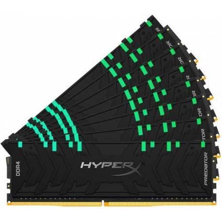 Kingston MEMORIA RAM 256GB DDR4-3200MHZ CL16 DIMM KIT DE 8 XMP HYPERX PREDATOR RGB