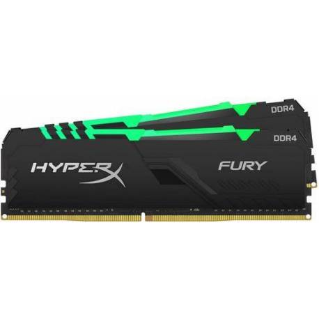 Kingston MEMORIA RAM 64GB DDR4-2666MHZ CL16 DIMM KIT DE 2 HYPERX FURY RGB