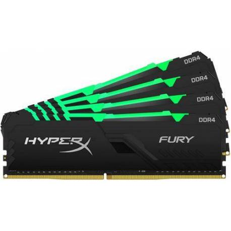 Kingston MEMORIA RAM 128GB DDR4-3466MHZ CL17 DIMM KIT DE 4 HYPERX FURY RGB
