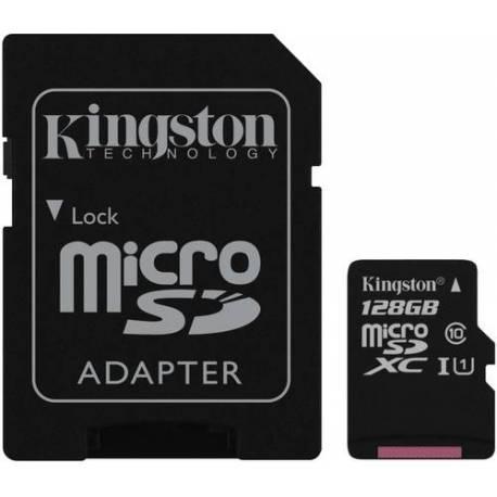 Kingston TARJETA DE MEMORIA 128GB MICRO SDXC CLASE 10 UHS-I CARD + ADAPTADOR SD