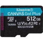 Kingston TARJETA DE MEMORIA 512GB MSDXC CANVAS GO PLUS 170R A2 U3 V30 SIN ADAPTADOR