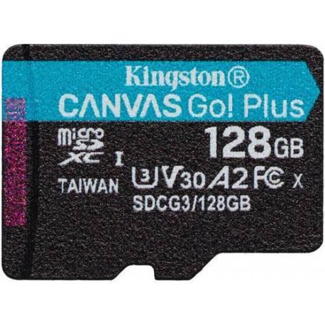 Kingston TARJETA DE MEMORIA 128GB MSDXC CANVAS GO PLUS 170R A2 U3 V30 SIN ADAPTADOR