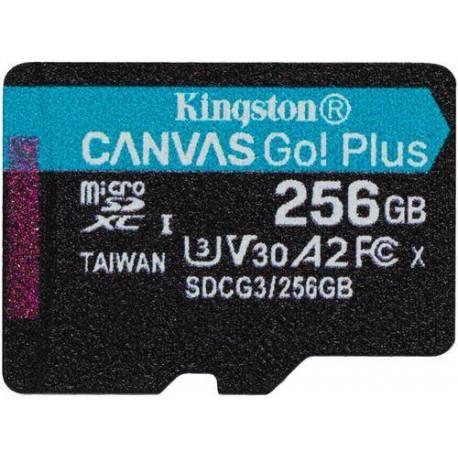 Kingston TARJETA DE MEMORIA 256GB MSDXC CANVAS GO PLUS 170R A2 U3 V30 SIN ADAPTADOR