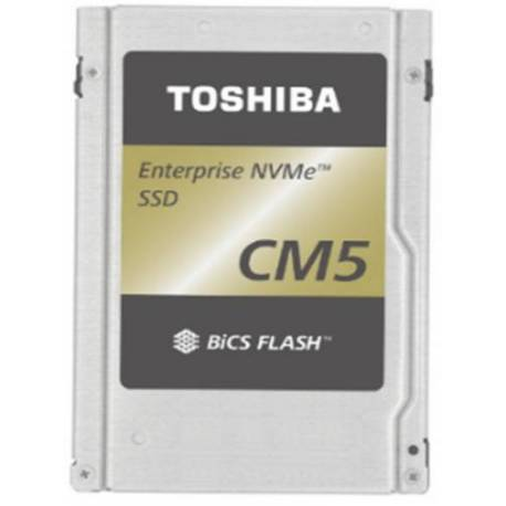 "Toshiba DISCO DURO CM5-R ENTERPRISE SSD 7680GB PCIE 3X4 2.5"" 15MM TLC BICS FLASH"