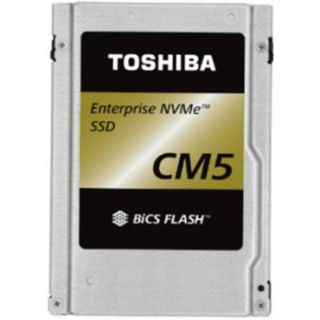 "Toshiba DISCO DURO CD5 ENTERPRISE SSD 3840GB PCIE 3X4 2.5"" 15MM TLC BICS FLASH"