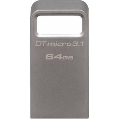 Kingston 64GB DTMICRO USB 3.1/3.0 TIPO A METAL ULTRA-COMPACT FLASH DRIVE