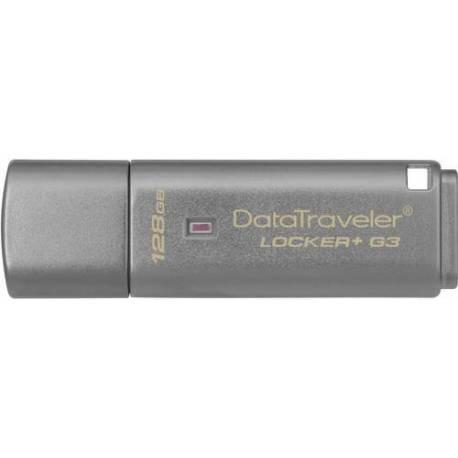Kingston UNIDAD USB 128GB USB 3.0 DT LOCKER+ G3 HARDWARE ENCRIPTADO USB A CLOUD