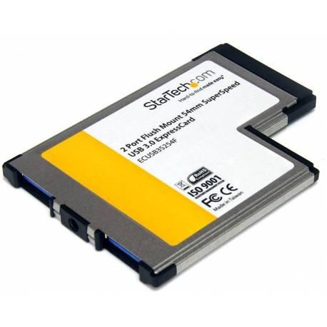 StarTech TARJETA EXPRESSCARD 54 USB 3.0 2 PUERTOS MONTAJE AL RAS FLUSH