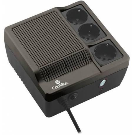 Coolbox SAI SCUDO-600 NEGRO 600VA 300W