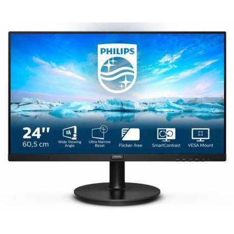 "Philips MONITOR 23.8"" LCD 1920x1080 16:9 4MS 241V8L/00 1000:1 VGA HDMI"