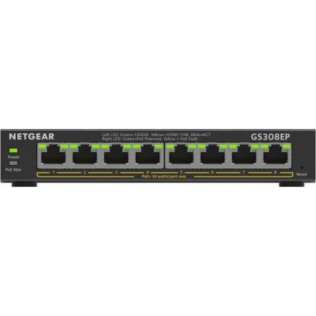 Netgear SWITCH 8 PUERTOS 1G POE+ 62W SMART GESTIONADO PLUS