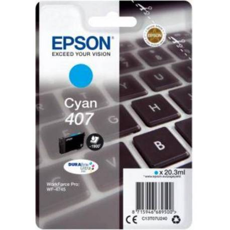 Epson CARTUCHO TINTA CIAN 407 WF-4745 SERIES 38.1 ML