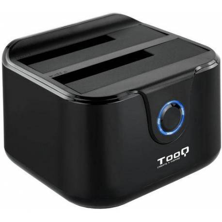 TooQ TQDS-802B DOCK STATION DOBLE BAHIA DISCO DURO NEGRO