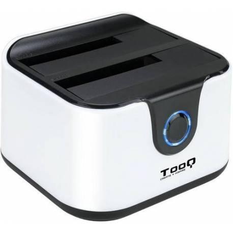 TooQ TQDS-802BW DOCK STATION DOBLE BAHIA DISCO DURO NEGRO/BLANCO