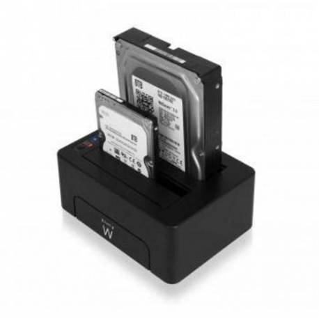 "EWENT EW7014 DOCK STATION DUAL 2.5""-3.5"" USB 3.1"