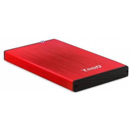 """TOOQ TQE-2527R CAJA DISCO DURO 2.5"""" USB 3.1 GEN1 USB 3.0 ROJO"""