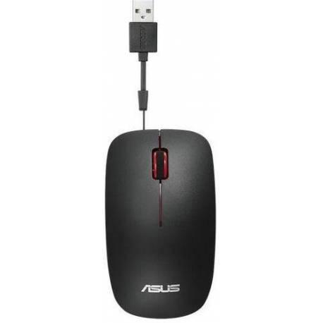 Asus RATÓN UT300 NEGRO-ROJO RETRÁCTIL USB CABLE 1000DPI