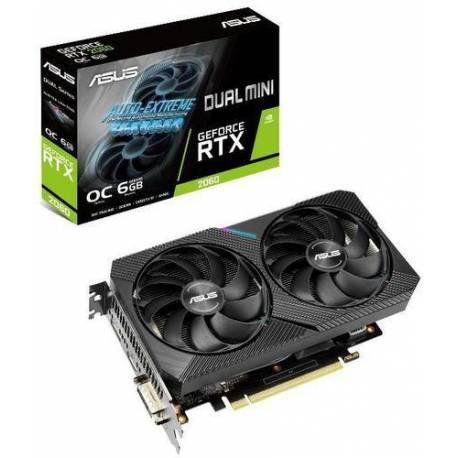 Asus TARJETA GRÁFICA DUAL-RTX2060-O6G-MINI 6GB GDDR6 HDMI DISPLAYPORT DVI