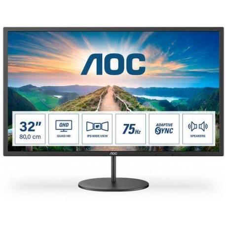 """Aoc MONITOR IPS 32"""" 16:9 QHD 75HZ HDMI DISPLAYPORT 2WX2"""
