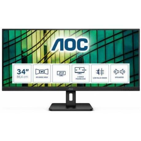 "Aoc MONITOR 34"" LCD 2560X1080 21:9 4MS Q34E2A 1000:1 HDMI DISPLAYPORT"