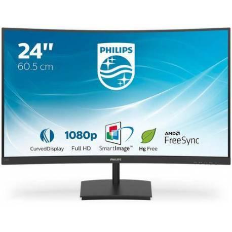 """Philips MONITOR 23.6"""" LCD 1920x1080 16:9 4MS 241E1SC/00 3000:1 VGA HDMI"""